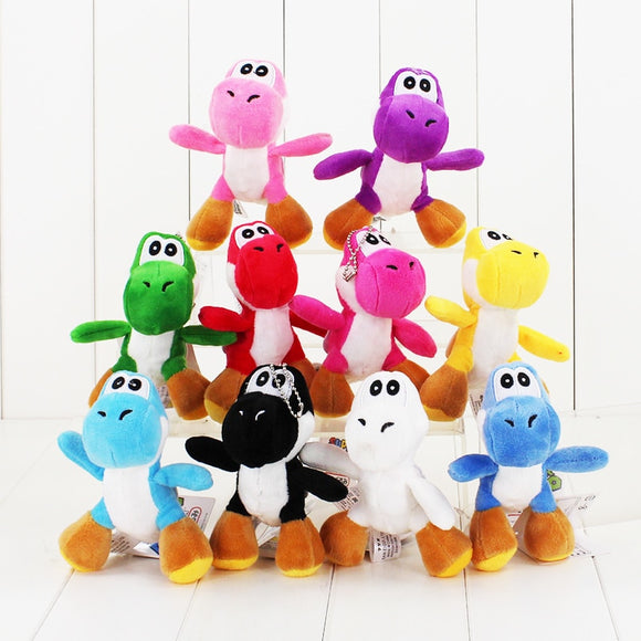 12CM 1pcs Super Mario Bros Yoshi Plush phone chain toy cute dinosaur animal doll soft stuffed doll free shipping - Xtrem Shopping
