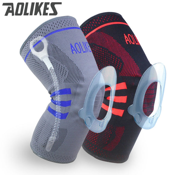 1pc Basketball Knee Brace Compression knee Support Sleeve Injury Recovery Volleyball Fitness sport safety sport protection gear - Xtrem Shopping
