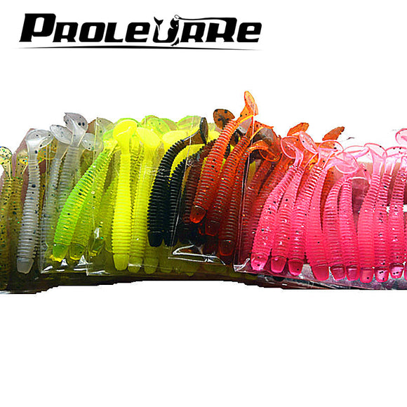 10 Pcs/pack 0.7g 5cm for Fishing Worm Swimbait Jig Head Soft Lure Fly Fishing Bait Fishing Lure YR-200 - Xtrem Shopping