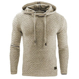 Casual Hoodie Men'S Plaid Jacquard Hoodies Fashion Military Hoody Style Long-Sleeved Men Sweatshirt - Xtrem Shopping
