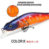 Retail A+ Fishing Lures Assorted Colors Minnow Crank 80Mm 8.5G Magnet System. Bearking 2016 Hot Model Crank Bait - K