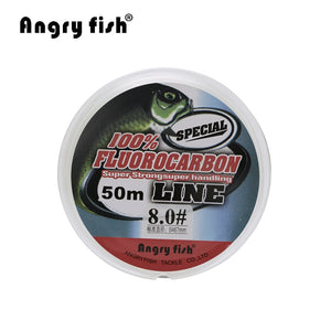 Angryfish Fluorocarbon Fishing Line  50m transparent Super strong - Xtrem Shopping