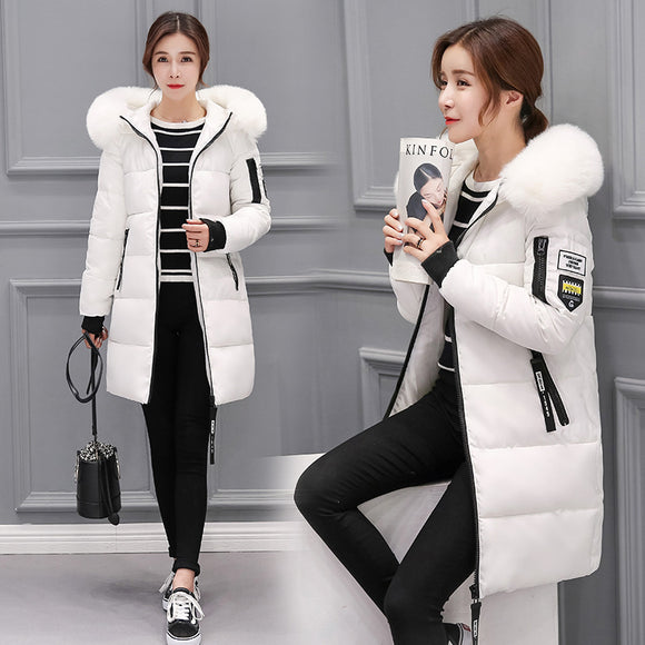 Winter jacket women 2018 new female parka coat feminina long down jacket plus size long hooded duck down coat jacket Women