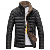 Tangnest 2018 Men Winter Jacket Warm Casual All-Match Single Breasted Solid Men Coat Popular Coat Two Colors Size M-3Xl Mwm432 - Black / M