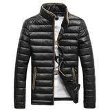 Tangnest 2018 Men Winter Jacket Warm Casual All-Match Single Breasted Solid Men Coat Popular Coat Two Colors Size M-3Xl Mwm432 - Mwm819Black