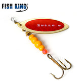 FISH KING Mepps Willow Spinner Bait Copper Size 1#-5# With Mustad 35647-BR Treble Hook 1/0#-8#  Fishing Lure - Xtrem Shopping
