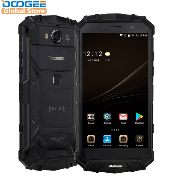 IP68 Original DOOGEE S60 Wireless Charge Smartphone 5580mAh 12V2A Quick Charge 5.2'' FHD Helio P25 Octa Core 6GB 64GB 21.0MP - Xtrem Shopping