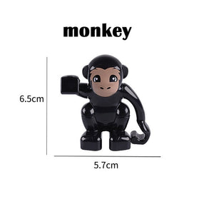 Duplos Animal Model Figures big Building Block Sets Elephant monkey Horse kids educational toys for children Gift Brinquedos - Xtrem Shopping