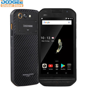 "IP68 level DOOGEE S30 Smartphone Side Fingerprint 2GB 16GB Dual Camera 5580mAh 5V/2A Quick Charge 5.0""HD Android 7.0 Waterproof - Xtrem Shopping"
