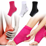 1pair Foot Compression Sleeve Anti Plantar Support Ankle Angel Socks Sport Protector Basketball Soccer Ankle Support Relief Sock - Xtrem Shopping