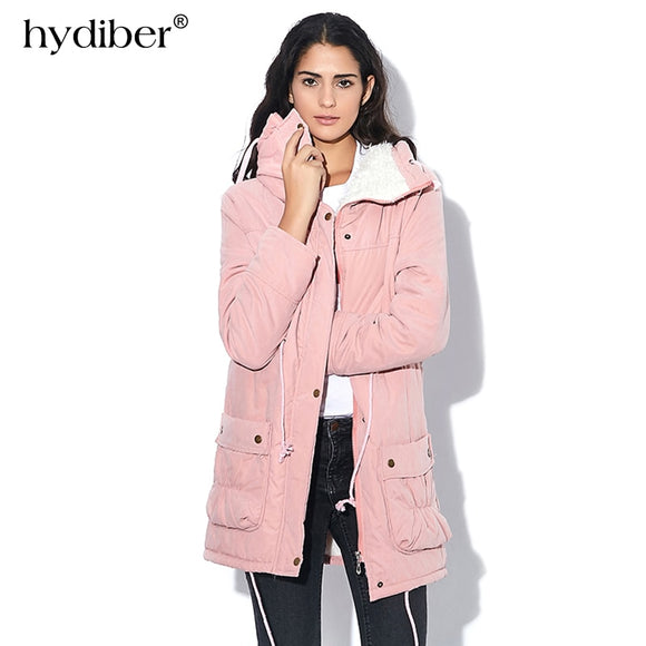 New 2018 Winter Coat Women military Outwear Medium-Long Wadded Hooded snow Parka thickness Cotton Warm casual Jacket Plus Size - Xtrem Shopping