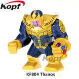 Single Sale Super Heroes Avengers 3 Thanos Infinity Gauntlet With 24Pcs Power Stones Vision Building Blocks Children Toys Kf805 - Kf804