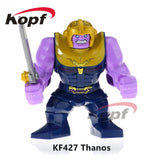 Single Sale Super Heroes Avengers 3 Thanos Infinity Gauntlet With 24Pcs Power Stones Vision Building Blocks Children Toys Kf805 - Kf427