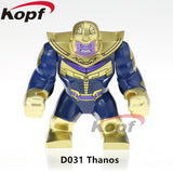 Single Sale Super Heroes Avengers 3 Thanos Infinity Gauntlet With 24Pcs Power Stones Vision Building Blocks Children Toys Kf805 - D031