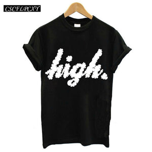 Harajuku Black T Shirt Women Tops Punk Cartoon Cat Face Letter Print Tee Shirt Femme T-shirt Casual Tee Shirt O-neck Rock Tops - Xtrem Shopping
