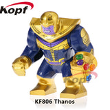 Single Sale Super Heroes Deadpool 2 Infinity War Thanos Captain America Batman Spiderman Outrider Building Blocks Children Toys - Kf806