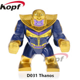 Single Sale Super Heroes Deadpool 2 Infinity War Thanos Captain America Batman Spiderman Outrider Building Blocks Children Toys - D031