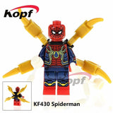 Single Sale Super Heroes Deadpool 2 Infinity War Thanos Captain America Batman Spiderman Outrider Building Blocks Children Toys - Kf430