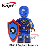 Single Sale Super Heroes Deadpool 2 Infinity War Thanos Captain America Batman Spiderman Outrider Building Blocks Children Toys - Kf433