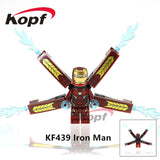 Single Sale Super Heroes Deadpool 2 Infinity War Thanos Captain America Batman Spiderman Outrider Building Blocks Children Toys - Kf439