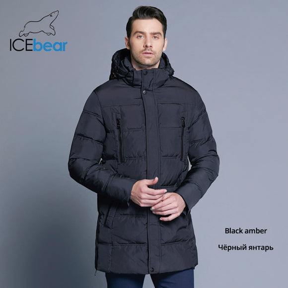 ICEbear 2018 Top Quality Warm Men's Warm Winter Jacket  Windproof  Casual Outerwear Thick Medium Long Coat Men Parka 16M899D - Xtrem Shopping
