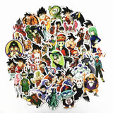 2018 50Pcs/lot Anime Dragon Ball Stickers Super Saiyan Goku Stickers Decal For Snowboard Luggage Car Fridge Laptop Sticker - Xtrem Shopping