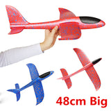 48cm Big Good quality Hand Launch Throwing Glider Aircraft Inertial Foam EPP Airplane Toy Children Plane Model Outdoor Fun Toys - Xtrem Shopping