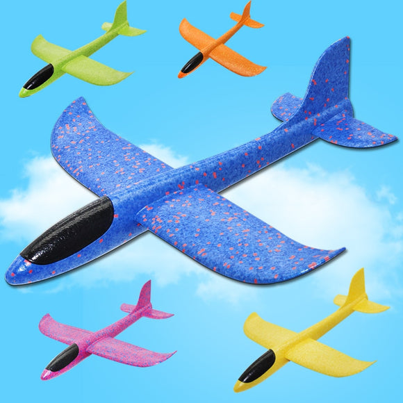 Big 35cm Kids Toys Hand Throw Airplane Flying Glider Planes EPP Foam Plane Model Party Bag Fillers Outdoor Launch Game Toy - Xtrem Shopping