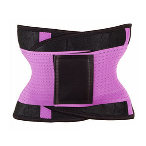 Waist Trainer Belt Slimming Body Shaper Sport Girdle Belt For Women - Pink / S