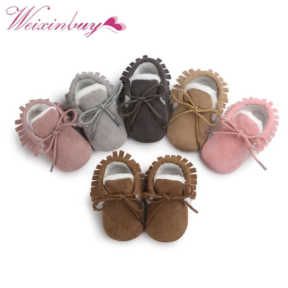2019 Baby Moccasins Infant Shoes Soft Soled Non-slip Crib PU Leather First walkers - Xtrem Shopping
