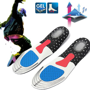 Free Size Unisex Orthotic Arch Support Sport Shoe Pad Sport Running Gel Insoles Insert Cushion for Men Women - Xtrem Shopping