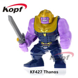 Super Heroes Single Sale Avengers 3 Thanos Infinity Gauntlet With 24Pcs Power Stones Building Blocks Children Gift Toys Kf805 - Kf427