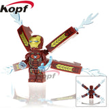 Super Heroes Single Sale Avengers 3 Thanos Infinity Gauntlet With 24Pcs Power Stones Building Blocks Children Gift Toys Kf805 - 823 Without