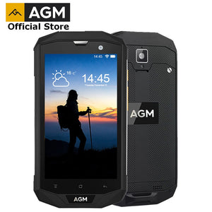 "OFFICIAL AGM A8 5""4G FDD-LTE Android 7.1 Mobile Phone Dual-SIM IP68 Rugged Phone Quad Core 13.0MP 4050mAh NEW NFC OTG Smartphone - Xtrem Shopping"