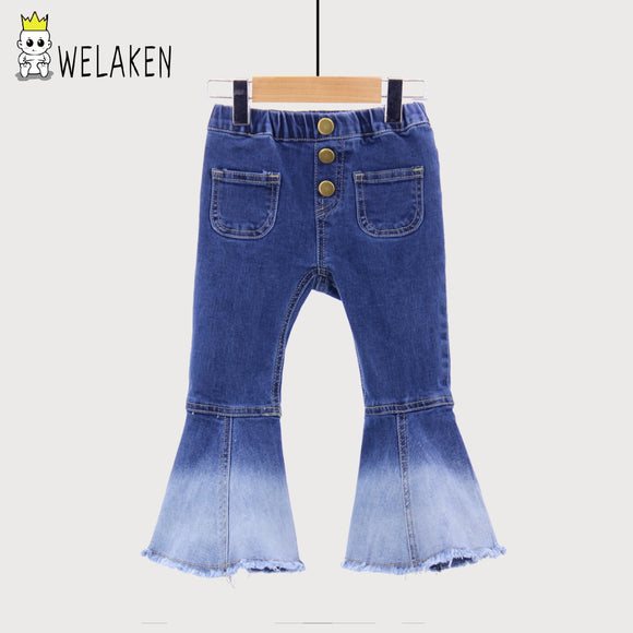 weLaken BIGGER SIZE  New Kids Vintage Jeans Girls Jeans Bell bottoms Children's Pants Autumn Outwear - Xtrem Shopping
