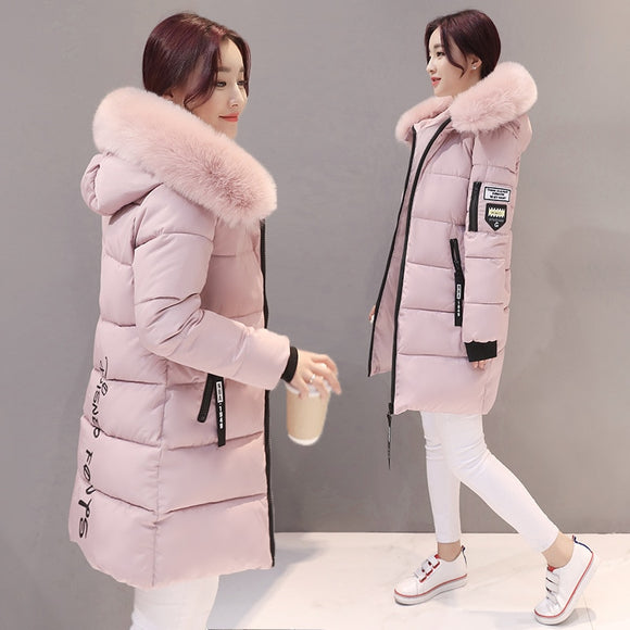 Parka Women Winter Coats Long Cotton Casual Fur Hooded Jackets Ladies Warm Winter Parkas Female Overcoat Women Coat MLD1268 - Xtrem Shopping
