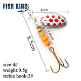 FISH KING MEPPS 6 Color 0#-5# Spinner Bait  With Mustad Treble Hooks 35647-BR Arttificial Bait Fishing Lure - Xtrem Shopping