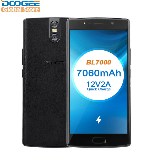 DOOGEE BL7000 7060mAh Android 7.0 12V2A Quick Charge 5.5'' FHD MTK6750T Octa Core 4GB RAM 64GB ROM Mobile phone Dual 13.0MP - Xtrem Shopping