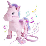 35cm Electric Walking Unicorn Plush Toy Stuffed Animal Toy Electronic Music Unicorn Toy for Children Christmas Gifts - Xtrem Shopping