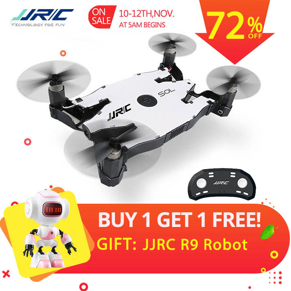 JJR/C JJRC H49 SOL Ultrathin Wifi FPV Selfie Drone 720P Camera Auto Foldable Arm Altitude Hold RC Quadcopter VS H37 H47 E57 - Xtrem Shopping
