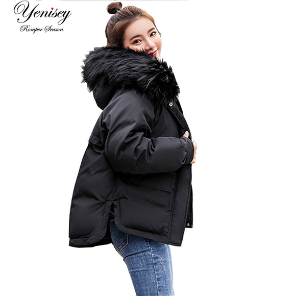 2018 Real New Arrival Down Jacket Winter Jacket Women Single Full Slim Hair Cotton-padded Clothes Big Jacket Coat 907 - Xtrem Shopping