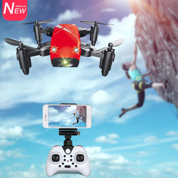 AEOFUN S9HW Mini Drone With Camera HD S9 No Camera Foldable RC Quadcopter Altitude Hold Helicopter WiFi FPV Micro Pocket Dron - Xtrem Shopping