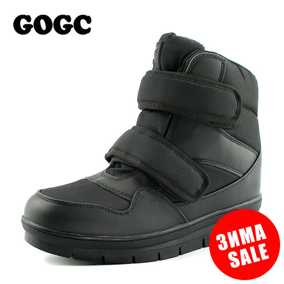 GOGC 2018 Warm Winter Boots Men Snow Boots Brand Non-slip Winter Men Shoes High Quality Shoes Men Winter Ankle Boots Plus Size - Xtrem Shopping