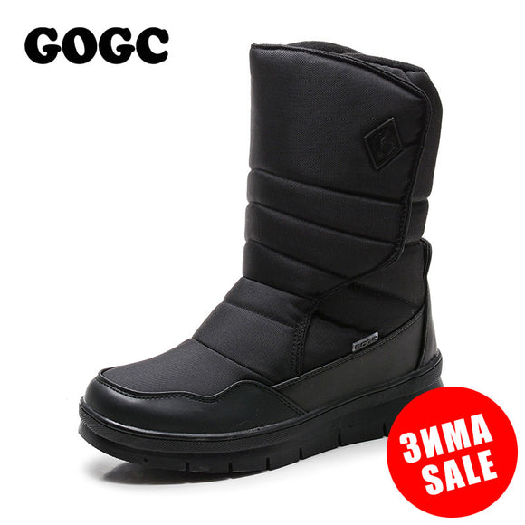GOGC Warm Men Winter Shoes Brand Non-slip Winter Shoes for Men High Quality Winter Boots Men Warm Snow Boots Shoes Men Plus Size - Xtrem Shopping