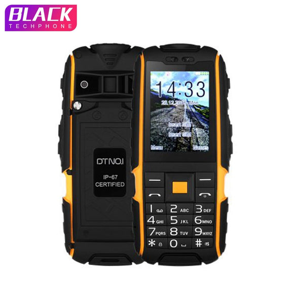 DTNO.I A9 mobile phone IP67 Waterproof shockproof phone Dual SIM cell phone 4800mAh Wireless FM flashlight with Russian keyboard - Xtrem Shopping