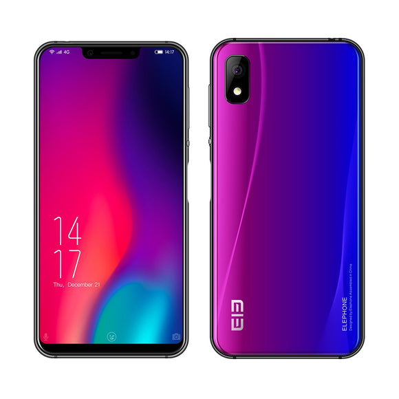 ELEPHONE A4 Pro 4G Mobile Phone 5.85Inch Notch Screen MT6763 Octa-core Android 8.1 4GB RAM+64GB ROM 16MP+8MP Cameras 3000mAh Side Fingerprint Unlock