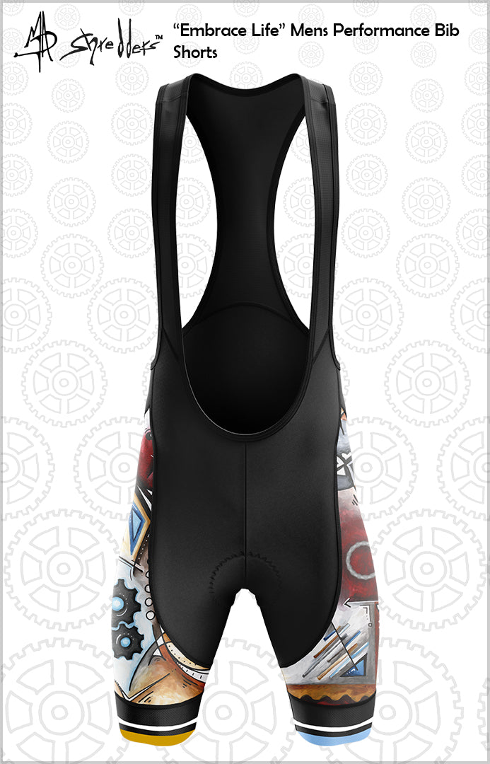 "CLOSEOUT! Limited stock available ""Embrace Life"" Mens Cycling Bib Shorts Performance Fit MAD Shredders™"