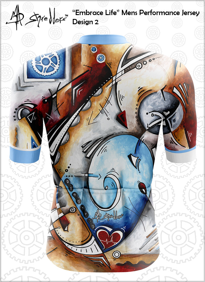 "CLOSEOUT! Limited stock available""Embrace Life"" Mens Cycling Jersey Design 2 Performance Fit MAD Shredders™"