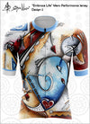 """Embrace Life"" Mens Cycling Jersey Design 2 Performance Fit MAD Shredders™"