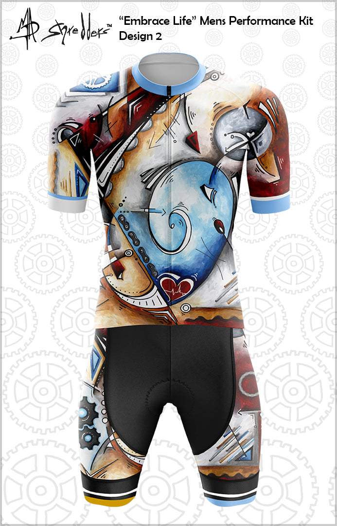 """Embrace Life"" Mens Cycling Kit Design 2 Performance Fit MAD Shredders™"
